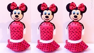 getlinkyoutube.com-Porta treco de garrafa pet - Minnie