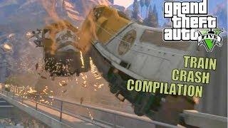 getlinkyoutube.com-GTA V Train Crashes Compilation