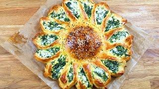 getlinkyoutube.com-Sonnen Börek mit Schafskäse Spinat Füllung - Blumen Börek / Günes Pogaca - Cicek Poaca