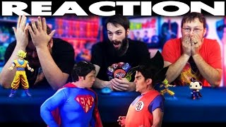 Goku vs Superman Epic Rap Battles of History REACTION!!