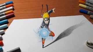 getlinkyoutube.com-Drawing Naruto - Rasengan in 3D