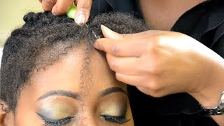getlinkyoutube.com-How to crochet knot free with Afro bulk hair
