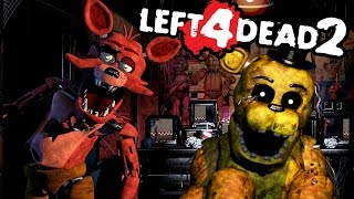 HUNTED BY FOXY! | Left 4 Dead 2 (Fnaf Map) #3