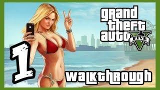 "Grand Theft Auto V Walkthrough PART 1 [PS3] Lets Play Gameplay TRUE-HD QUALITY ""GTA 5 Walkthrough"""
