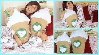 getlinkyoutube.com-DIY Starbucks Frappuccino Pillow NO SEW