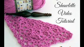 getlinkyoutube.com-How to Crochet: Fortune's Shawlette (Right Handed)