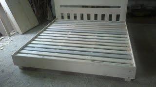 getlinkyoutube.com-Бюджетный вариант деревянной кровати / Affordable wooden bed