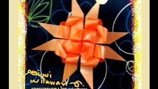 getlinkyoutube.com-ริบบิ้นห่อเหรียญโปรยทานดอกดาวกระจาย 1 (ฉบับสาธิต) How to flower ribbon