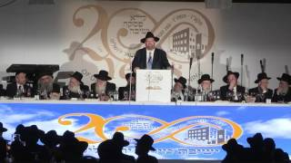 getlinkyoutube.com-R' Shlomo Yehuda Rechnitz's Address at London Dinner for Mir Yerushalayim