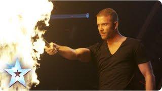 getlinkyoutube.com-James More's firey magic act! | Semi-Final 4 | Britain's Got Talent 2013