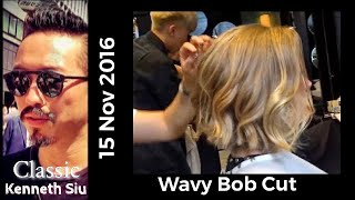 getlinkyoutube.com-Kenneth Siu - Wavy Bob Cut New