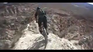 getlinkyoutube.com-Inches from Death:  Downhill mountain biker rips cliffs in Utah