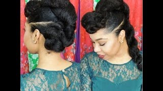"getlinkyoutube.com-Natural Hair Protective Hairstyle ""Twist'n'Bun"""