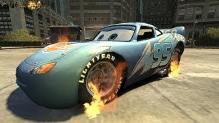 getlinkyoutube.com-Grand Theft Auto IV - Rayo Dinoco Lightning MqQueen (GHOST RIDER MOD) HD