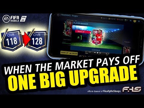 FIFA Mobile - CASHING IN ON MARKET INVESTMENTS for a HUGE One-Day 10 OVR Upgrade!