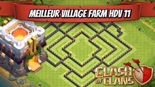 getlinkyoutube.com-Clash Of Clans | Village HDV 11 Farm | TH11 Farming Base