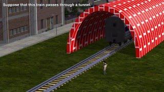 getlinkyoutube.com-Einstein's Relativistic Train in a Tunnel Paradox: Special Relativity