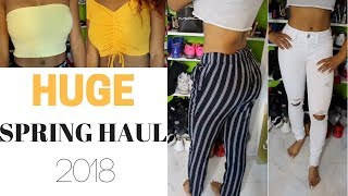 HUGE SPRING TRY-ON HAUL | F21, PACSUN, ULTA & MORE