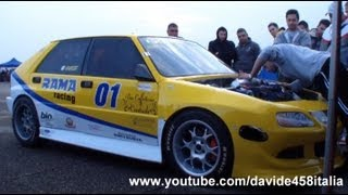 getlinkyoutube.com-+1000 HP Lancia Delta RR1 by Rama Racing: LAUNCH + start up + drag race