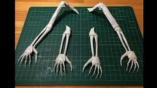 getlinkyoutube.com-折り紙「手」の折り方 How to make the origami skull hand