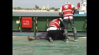 Sanid volunteers respond to simulated disaster, Delma Island, UAE