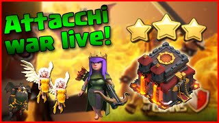TH9 VS TH10 3 STELLE IN WAR - CLASH OF CLANS