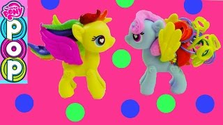 getlinkyoutube.com-MLP POP Custom Maker My Little Pony Fluttershy Rainbow Dash Toys Unboxing Review