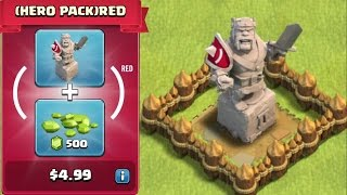 getlinkyoutube.com-Clash Of Clans - BUYING NEW RED UPDATE!!! (KING STATUE!!!)