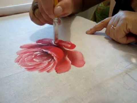 Pintura em tecido Eliane Nascimento: Rosas