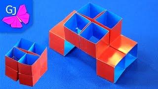 getlinkyoutube.com-Волшебный Куб Трансформер :: Движущиеся оригами из бумаги