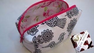 getlinkyoutube.com-{Step by Step Sewing} DIY Make Up Bag