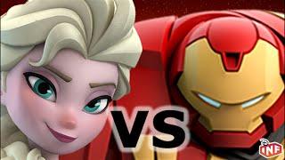 getlinkyoutube.com-Elsa vs Hulkbuster sarlacc pit arena fight Disney Infinity toy box