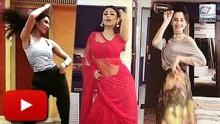 getlinkyoutube.com-Mouni Roy, Sriti Jha & Sanjeeda's Dancing Challenge | Tum Bin 2