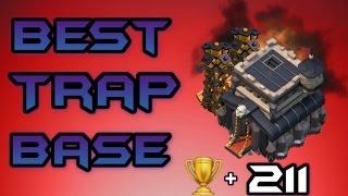 getlinkyoutube.com-Clash Of Clans   WORLDS BEST TH9 TROPHY/ TROLL BASE    +211 CUPS IN 12 HOURS !