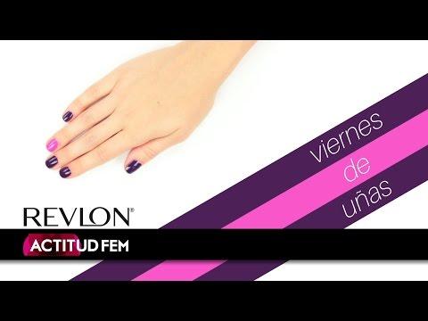 Manicure fácil en solo dos pasos con calidad de salón, morado y rosa | ActitudFEM