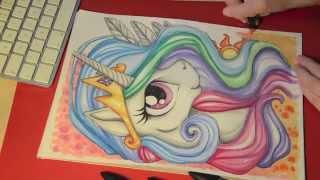 getlinkyoutube.com-Speed painting/drawing MLP - Princess Celestia