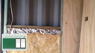 getlinkyoutube.com-Shipping Container House - Insulating the walls