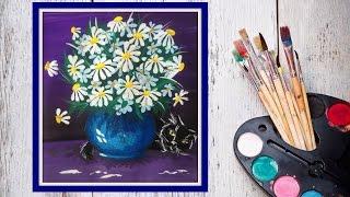 getlinkyoutube.com-Как нарисовать букет ромашек! #Dari_Art
