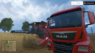 getlinkyoutube.com-Farming Simulator 2015: Wheat Harvest - WO. Mods: Claas, Case IH AXIAL-FLOW 7130, MAGNUM, Man TGS