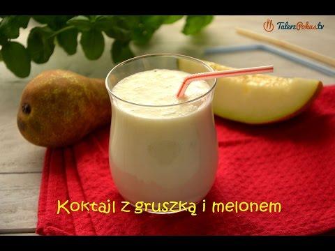 Koktajl z gruszką i melonem