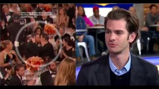 getlinkyoutube.com-Andrew Garfield on Ryan Reynolds Kiss at Golden Globes, New Movie 'Silence'