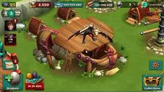 getlinkyoutube.com-Dragons: Rise of Berk - Mead hall 13, Toothless level 95 and Wazorwhipe Advanced Training Form