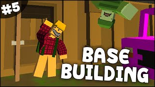 getlinkyoutube.com-Unturned Gameplay - Part 5 - Crafting & Building a Base! (Unturned 2 Base Building)