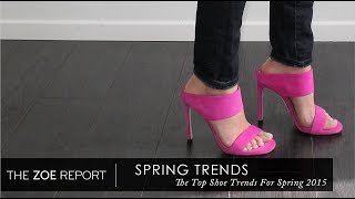 The Top Shoe Trends For Spring 2015