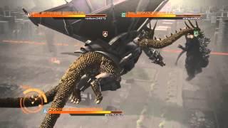 getlinkyoutube.com-Godzilla Ps4: Mecha King Ghidorah vs SpaceGodzilla (Vic Witwicky) vs Burning Godzilla