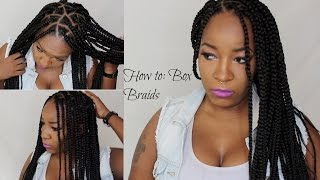 getlinkyoutube.com-How To Box Braids/Triangle Braids