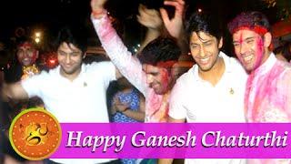 getlinkyoutube.com-Namish Taneja aka Lakshya at Ankit Bathla aka Dhruv's Ganpati Visarjan!