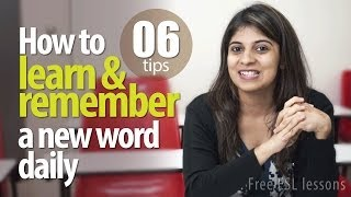 getlinkyoutube.com-06 tips to learn and remember a new English Vocabulary daily -- Free English Lessons
