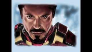 getlinkyoutube.com-iPad finger painting of Ironman/Tony Stark (Avengers)
