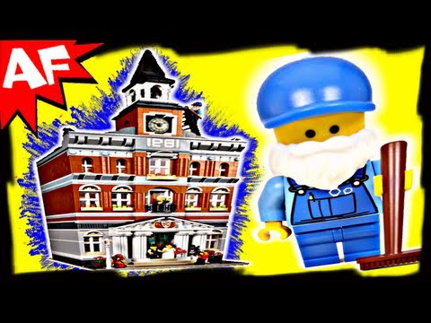 TOWN HALL Lego City Modular Building Set 10224 Animated Revi